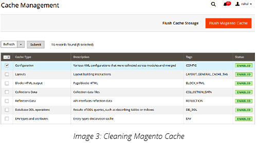 Cleaning Magento Cache